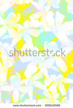 Floral pattern in bright colors - stock photo