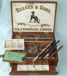 Antique Watercolour Artists Paint BOX C1860 Reeves Rare Painting SET | eBay