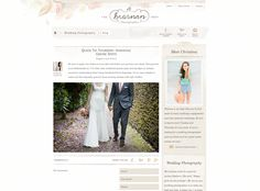 Just a classically lovely, watercoloured blog design