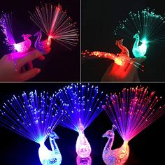 Xiangmall 16 PCS LED Finger Lights Colorful Flashling Novelty Light up Toys Bright Party Favors Rings for Birthday, Holiday, Concert Shows, Wedding Decoration