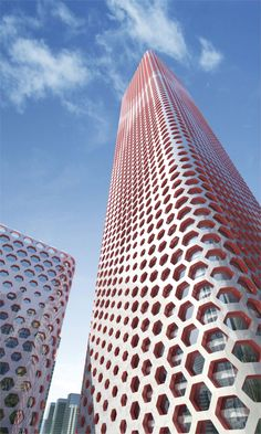 Sinosteel Tower - Tianjin, China;  residential housing complex;  designed by MAD Architects