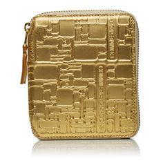Comme Des Garçons Gold Embossed Wallet