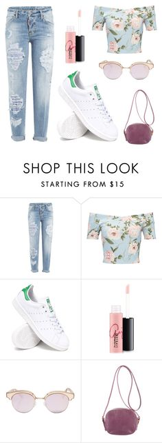 """""""Drei #15"""" by andrealoren98 ❤ liked on Polyvore featuring Dsquared2, Miss Selfridge, adidas, MAC Cosmetics, Le Specs and The Row"""
