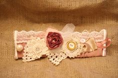 Cuff Bracelet with vintage lace