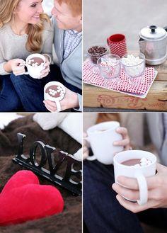 winter picnic engagements