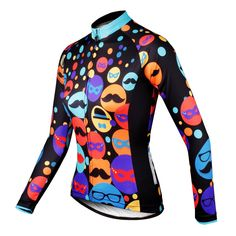 Ilpaladino Gentle Mustache Hat Women s Cycling Long Short-sleeve Jersey kit  Sportswear Exercise Bicycling Pro Cycle Clothing Racing Apparel Outdoor  Sports ... 3929bfb8f