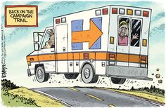 NEW CAMPAIGN BUS | Sep/16/16 Rick McKee - The Augusta Chronicle - Hillary Ambulance