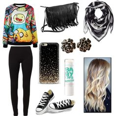 A fashion look from March 2015 featuring Calando leggings, Converse sneakers and Chanel earrings. Browse and shop related looks.
