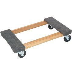 Monster Trucks 800 lb. Capacity Wood 4-Wheel Piano Carpeted Platform Dolly