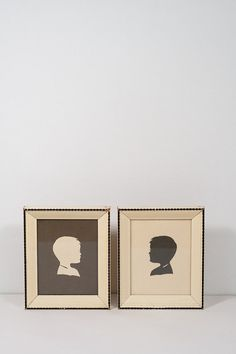 Vintage Cream and Black Paper Silhouettes