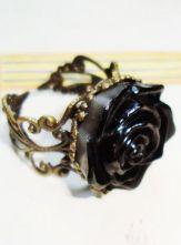 Black Rose Retro Gold Ring $8.84 #SheInside #Wishlist