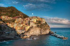 Manarola Moonrise - (Italy) by Elia Locardi on 500px