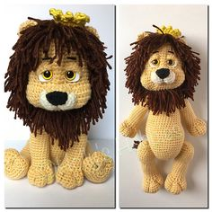 Wizard of Oz Cowardly Lion crochet amigurumi pattern by Holly's Hobbies