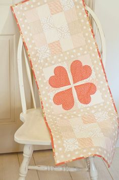 cute Valentine table runner by Fig Tree Quilts!