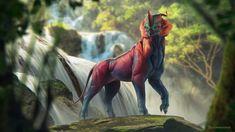 Balam-Há by Darredond Mythical Creatures Art, Alien Creatures, Mythological Creatures, Magical Creatures, Fantasy Creatures, Mystical Animals, Alien Concept Art, Creature Concept Art, Creature Design