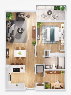Small Modern House Plans, Small House Floor Plans, Dream House Plans, Sims House Plans, House Layout Plans, House Layouts, Apartment Layout, Apartment Interior Design, Floor Plan Creator