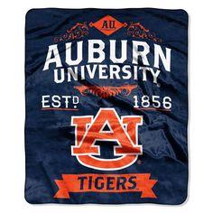Auburn Tigers Blanket 50x60 Raschel Label Design