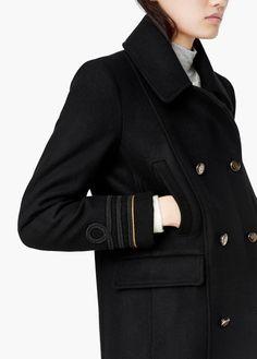 Sobretudo lã abotoadura dupla | MANGO