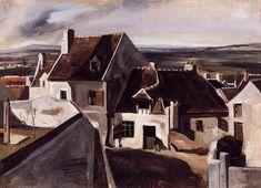 The Inn at Montigny-les-Cormeilles - Jean-Baptiste-Camille Corot - The Athenaeum Almeida Junior, Barbizon School, Art Paintings For Sale, Small Paintings, Ville France, Art Database, Artist Art, Art World, Great Artists
