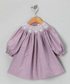 Plum Bishop Dress by Petit Pomme