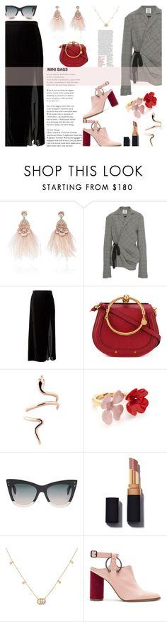 """Mini Bags..."" by unamiradaatuarmario ❤ liked on Polyvore featuring Ranjana Khan, Rosie Assoulin, Banana Republic, Chloé, Marni, Fendi, Gucci and Jaggar"