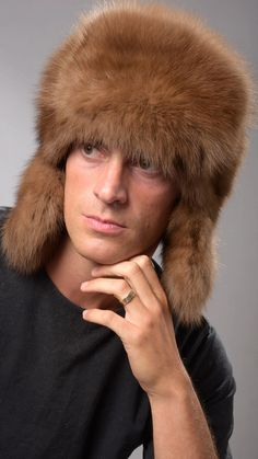 1e30aefebcf 13 Best Men s real fur hats images