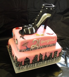 """Sex and the City""  21st Birthday cake"