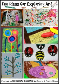 fun ideas for exploring art with kids of all ages