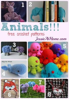 Animals free crochet pattern round up from Jessie At Home: