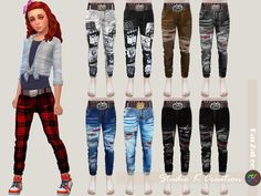 The Sims 4 Giruto 42 Slim fit Jeans for child Sims 4 Toddler Clothes, Sims 4 Mods Clothes, Sims 4 Cc Kids Clothing, Kids Clothes Boys, The Sims 4 Pc, Sims 4 Mm, Sims 4 Game Mods, Sims Mods, Sims 4 Traits