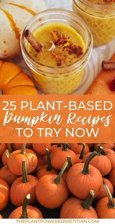 25 Plant-Based Pumpkin Recipes To Try Now - I'm going all out crazy for pumpkins! I'm sharing my favorite and celebratin - Pumpkin Juice, Pumpkin Smoothie, Vegan Pumpkin, Fresh Pumpkin Recipes, Fall Recipes, Whole Food Recipes, Dinner Recipes, Plant Based Eating, Plant Based Diet