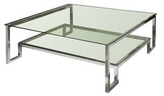 Elte Infinity Coffee Table -chrome and glass, 2 levels