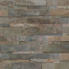 Shop the best source for online discount glass and stone tile. View our large selection of glass,stone,marble,metal,and other discount priced tile. Rock Fireplaces, Fireplace Stone, Fireplace Wall, Fireplace Ideas, Honed Marble, Gray Marble, Fireplace Inserts, Stone Veneer, Stone Masonry
