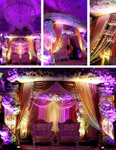 Gorgeous reception stage, of course not in our colors but that can be changed..mandap reused too.