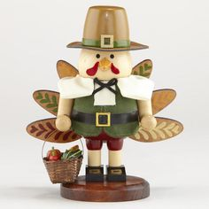 One of my favorite discoveries at WorldMarket.com: Wood Turkey Nutcracker Figure
