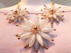 Pastel flower necklace: $31.95