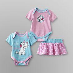 Disney- -The Aristocats Newborn Girls Bodysuits & Skirt-Baby-Baby & Toddler Clothing-Character Apparel