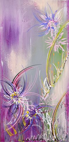 Acryl on canvas 40 x 80 cm Water Lilies, Paintings For Sale, Abstract, Canvas, Wallpaper, Gallery, Artwork, Summary, Tela