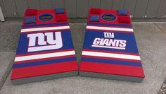 NY Giants Cornhole Boards Set. Completed 1/9/14.