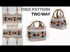 Quilting Bag Making,Quilting Bag Free Patterns,Quilt bag tutorial, Pattern Making Bag, - Deutschland Ideen Bag Pattern Free, Bag Patterns To Sew, Quilt Patterns, Wallet Pattern, Tote Pattern, Sewing Patterns, Quilt Making, Bag Making, Quilted Handbags