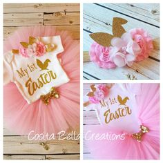 Hey, I found this really awesome Etsy listing at https://www.etsy.com/listing/268794226/my-first-easter-tutu-setpink-and-gold