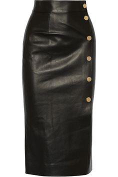 TAMARA MELLON Double-faced leather wrap skirt