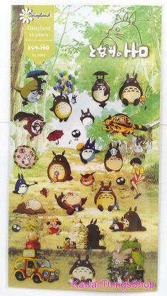 Neighbor Totoro Sticker Sheet  Scrapbooking by Kawaiithingsshop