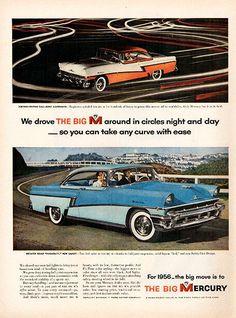 1956 Mercury Big M Automobile Original Car and Truck Print Ad