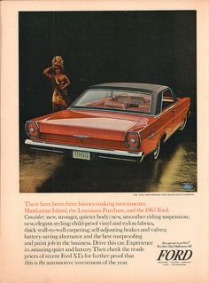 1965 Ford Galaxie 500 Advertisement Time Magazine October 16 1964 | Flickr - Photo Sharing!