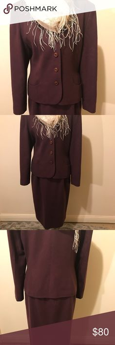 Pendleton Vintage Two Piece Suit. Lovely burgundy two piece vintage suit. Soft to touch very versatile. Make quite the fashion statement today. Fully lined in silk fabric. This wool suit is amazing. Pendleton Dresses Midi