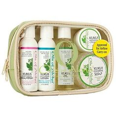Kukui Nut Skin and Hair Care Sampler  Gift  Travel Set  Oils of Aloha >>> You can find more details by visiting the image link.Note:It is affiliate link to Amazon. #american