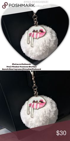 💋Nip/Kylie's Iconic DrippingLips KeyChain/Wht/Slv 💋NIP/Kylie's Iconic Dripping Lips KeyChain/A White Fur Puff w Pink & White Dripping Lips attached w Silver hardware/Dress up ur bag or use as ur actual keychain/it's EVERY Kylie's Fan Must Have! I still have a limited number left! Who ever knows if they will B4 sale on Kylie's Site again?? U can find ur's in Tory's Timeless Treasures Boutique/on Poshmark just enter closet tag name,@toryshop in Poshmark find people, search! U will see a vast…