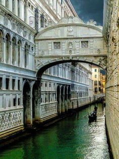 Ponte dei sospiri, Venice The Bridge of Sighs.on your way to the prisons in Venice. A beautiful place to visit! Places Around The World, Travel Around The World, Around The Worlds, Dream Vacations, Vacation Spots, Places To Travel, Places To See, Wonderful Places, Beautiful Places