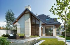Własny 1 Two Storey House, Home Fashion, Ideas Para, House Plans, Construction, House Design, Mansions, Luxury, Architecture